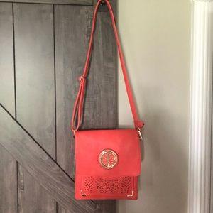 Boutique cross body coral purse